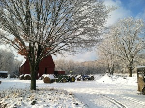 winter time image of Beechtree Farm